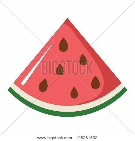 Watermelon design juicy fresh fruit icon vector template. Raw Watermelon . Eco bio health food