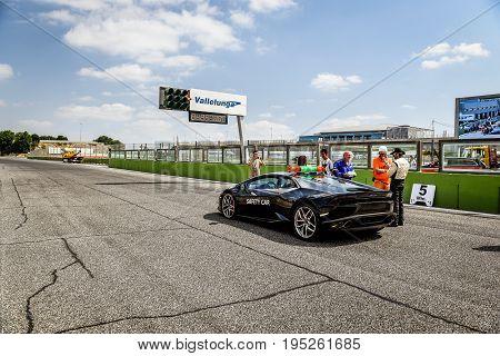 Vallelunga, Rome, Italy. June 25 2017. Lamborghini Huracan Safety Car On Track