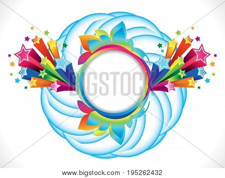 abstract artistic colorful rainbow circle explode vector illustration