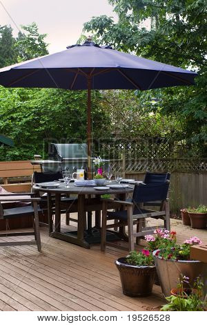 outdoor patio set for lunch
