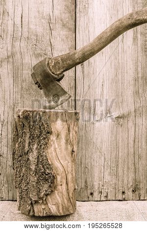 Old Rusty Axe. Country Tools