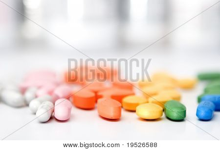 rainbow of pills