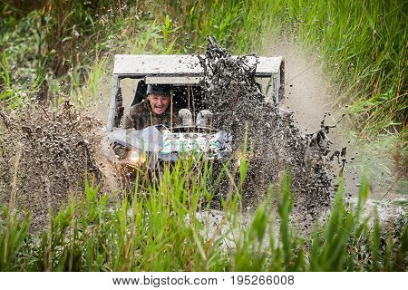 KIRILLOVKA UKRAINE - MAY 25 2016: Zaporizhia Trophy 2016. II stage of offroad trophy Ukrainian championship.