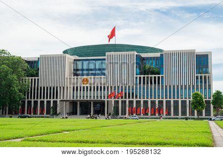 Hanoi, Vietnam - August 16, 2015: Vietnamese National Assembly building