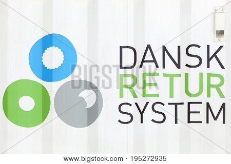 Aarhus, Denmark - July 6, 2017: Danish return system called in danish Dansk Retur system is a danish not for profit organization that handles the danish container deposit system