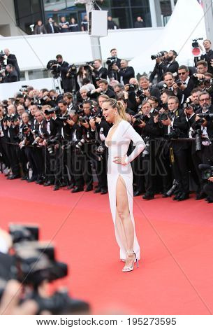 CANNES, FRANCE - MAY 18, 2017: Petra Nemcova attends the 'Nelyobov (Loveless)' screening during the 70th annual Cannes Film Festival