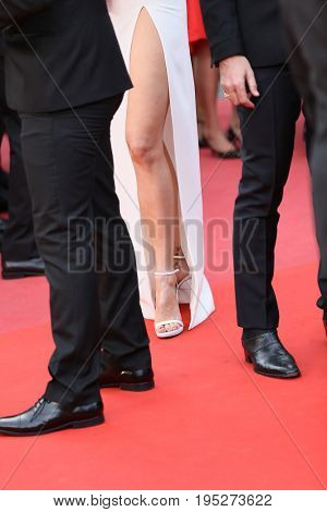 CANNES, FRANCE - MAY 18, 2017: Petra Nemcova (detail) attends the 'Nelyobov (Loveless)' screening during the 70th annual Cannes Film Festival