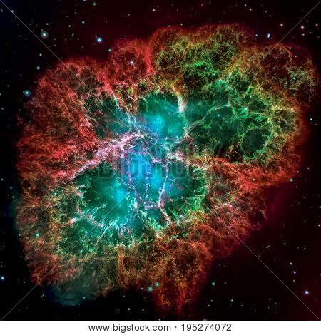 Crab Nebula Is A Remnant Of A Star's Supernova Explosion.