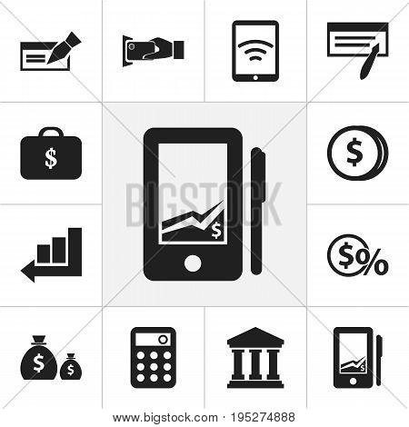 Set Of 12 Editable Investment Icons. Includes Symbols Such As Edifice, Greenback, Tax And More. Can Be Used For Web, Mobile, UI And Infographic Design.