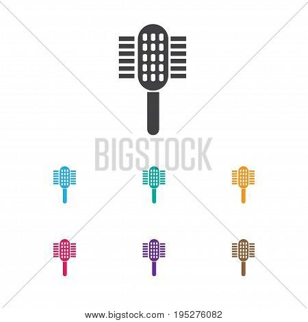 Vector Illustration Of Tonsorial Artist Symbol On Hackle Icon. Premium Quality Isolated Charger  Element In Trendy Flat Style.