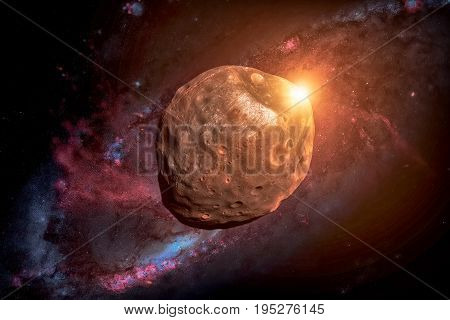 Phobos Is The Largest Natural Satellite Of Mars.