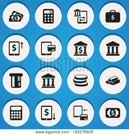Set Of 16 Editable Finance Icons. Includes Symbols Such As Decrease, Academy, Cash Growth And More. Can Be Used For Web, Mobile, UI And Infographic Design.