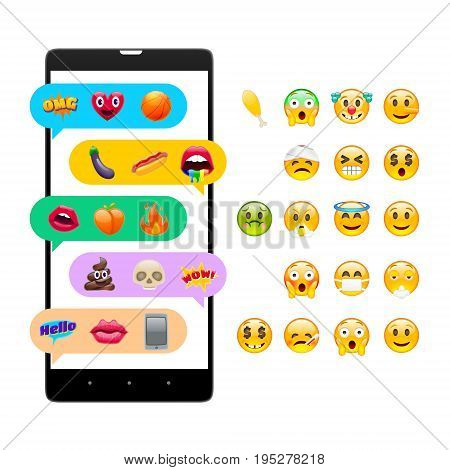 Mobile Messages With Fantastic Smile Emoticons
