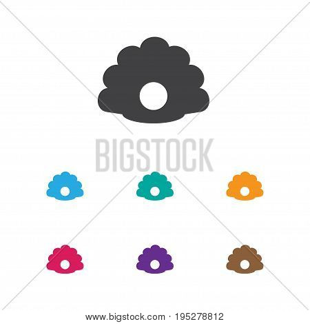 Vector Illustration Of Animal Symbol On Pearl Icon. Premium Quality Isolated Conch Element In Trendy Flat Style.