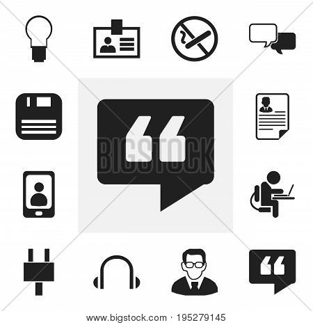 Set Of 12 Editable Bureau Icons. Includes Symbols Such As Smoking Forbidden, Authentication, Document And More. Can Be Used For Web, Mobile, UI And Infographic Design.