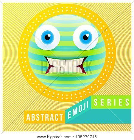 Abstract Cute Confused Emoji With Big Eyes