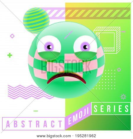 Abstract Cute Frustrated Emoji