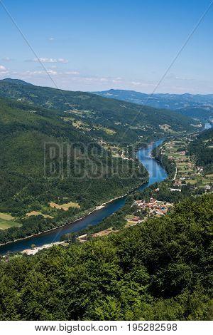 River Drina In The Valley Of Tara Mountain