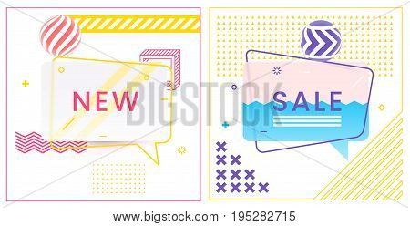 Trendy Abstract Geometric Vector Bubbles