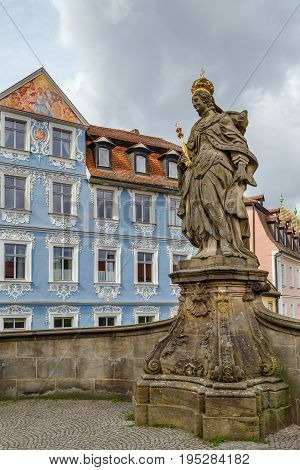 Statue of St. Cunigunde as Holy Roman Empress in Bamberg Germany