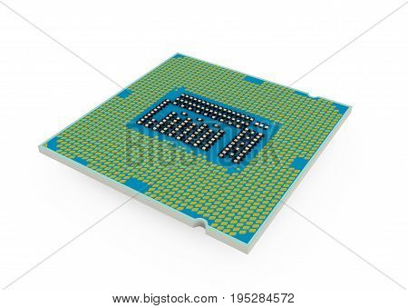 Processor isolated on a white background Processor, Computer, Object, Graphic, Element, Illustration 3d