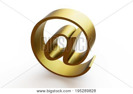 Email icon symbol. 3d illustration on isolated white background.