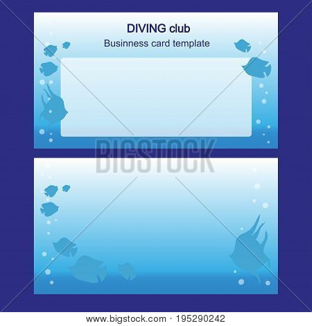 business card - fishing lures - nautical symbol - boat rental - company presentations - Flat design - stock vector - set template