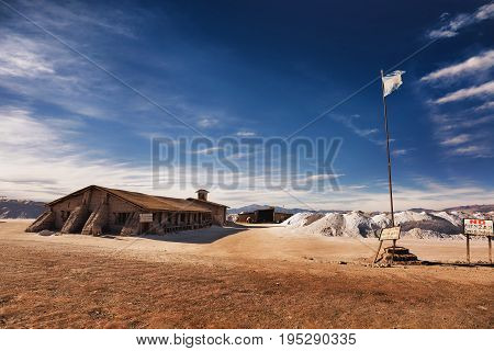 25 MAY 2015 Salinas Grandes in a salt desert in the Jujuy Province Argentina Andes