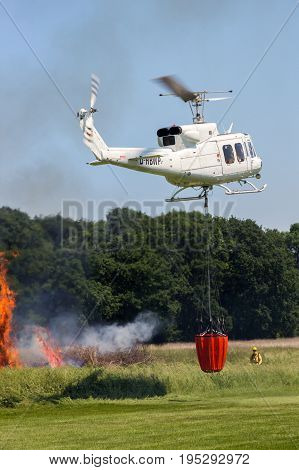 Aerial Fire Fighting Helicopter