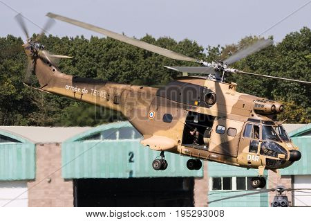 French Army Puma Helicopter Desert