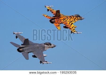 Military Af16 Fighter Jet Plane