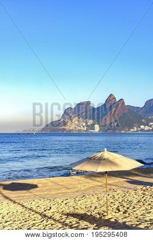 Morning at Ipanema beach in Rio de Janeiro