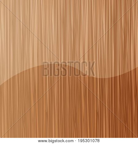 Background lacquered wooden texture, vector art illustration.