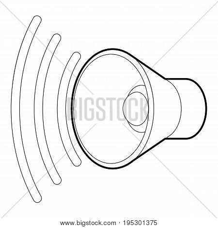 Loud, volume up icon. Outline illustration of loud, volume up vector icon for web design