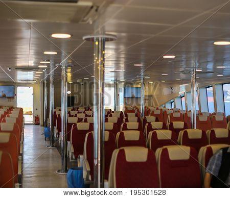 Business class ferry interior passenger transport cleanliness neatness service