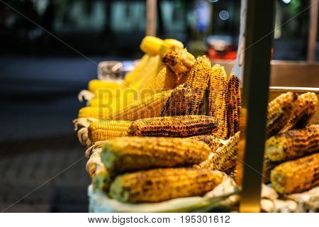 corn street maize sellers tourist attraction corn on the streets cooked fried