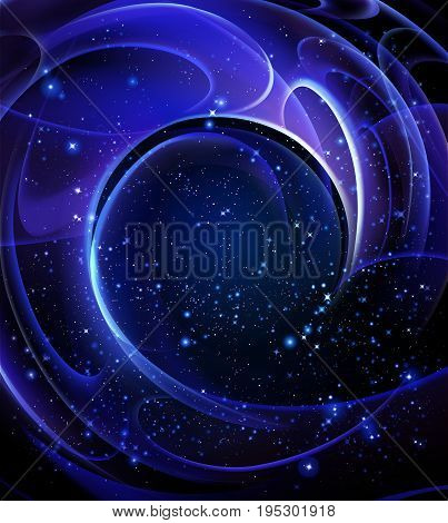 Galaxy spiral shape, vector art illustration space.