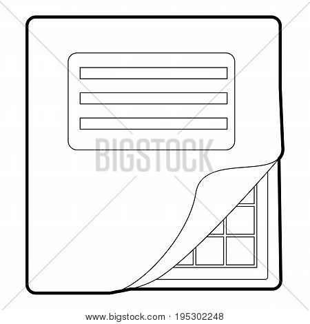 Folder with table excel icon. Outline illustration of folder with table excel vector icon for web design