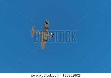EDEN PRAIRIE MN - JULY 16 2016: P-51 Mustang
