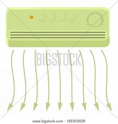 Wall heater icon. Cartoon illustration of wall heater vector icon for web design