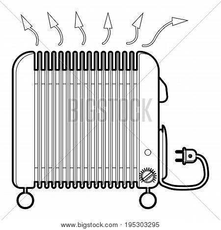 Heater icon. Outline illustration of heater vector icon for web design