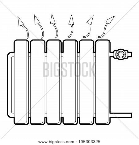 Heating battery icon. Outline illustration of heating battery vector icon for web design