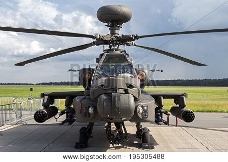 Military Ah-64 Attack Helicopter