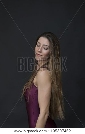 Young Longhair Woman