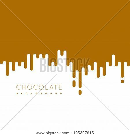 Chocolate irregular rounded lines background. Vector illustraion