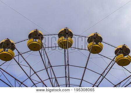 Detail of Abandoned Ferris Wheel in Ghost City of Pripyat