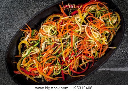 Raw Vegetable Noodles