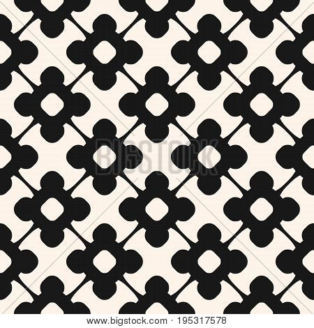 Floral pattern. Vector seamless pattern, floral ornamental background, repeat geometric tiles, curved lines. Flower pattern. Abstract monochrome ornament texture. Stylish design for decor, fabric, covers, textile, digital, prints. Floral design.