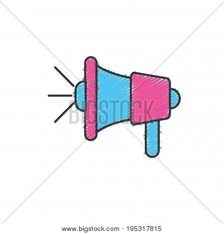 megaphone tool to speaker communication message vector illustration