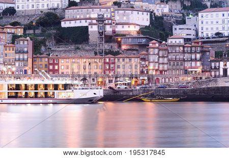 Porto old city and Douro river Portugal.